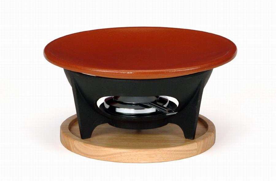 Plato churrasco con soporte y quemador onlinemenaje for Soporte platos cocina